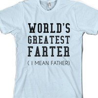 Light Blue T-Shirt | Funny Father's Day Joke Gifts Shirts