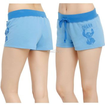 Licensed cool Disney Lilo & Stitch Hawaii OHANA Drawstring Lounge Sleep Pajama Shorts L & XL