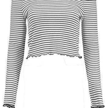 Kelly Stripe Off The Shoulder Top | Boohoo