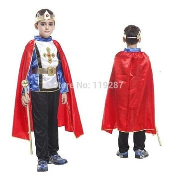 DCCKH6B Shanghai Story Retail 4 size new boys halloween arab king cosplay costumes Prince suit for kids full children's costume