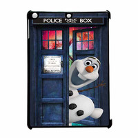 Tardis Doctor Who Olaf The Snowman Disney Frozen iPad Air Case