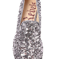 Rebels Footwear Flat Lotus Glitter in Pewter