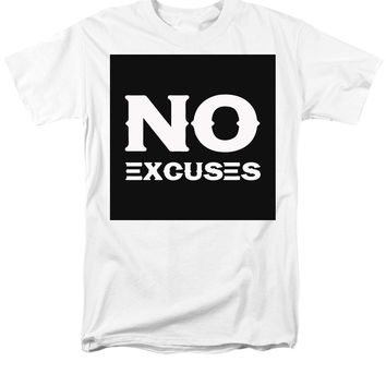 No Excuses - Motivational And Inspirational Quote 2 - Men's T-Shirt  (Regular Fit)