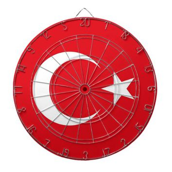 Dartboard with Flag of Turkey