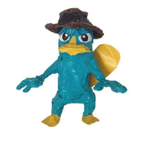 Duct Tape Art- Disney Phineas & Ferb Perry the Platypus/Agent P Character Figurine Sculpture
