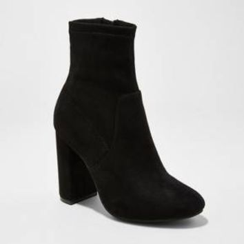 Women's Donnie Side Zipper Sock Booties - A New Day™