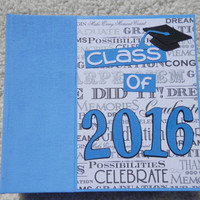6x6 Class of 2016 Blue Graduation Scrapbook