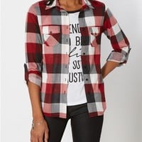 Essential Red Buffalo Plaid Button Down