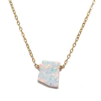 Arizona Fire Opal Necklace
