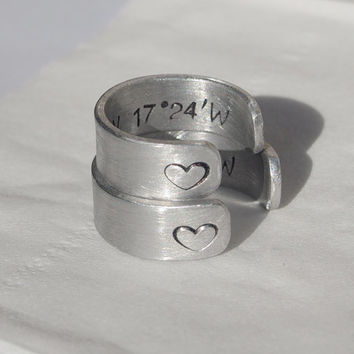Couples rings, Silver Couples rings, custom rings, stamped rings, Customized rings, personalized ring, couples matching rings, soulmate