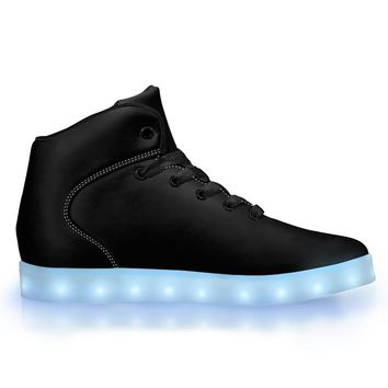 Black Out - APP Controlled High Top LED Shoes