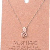 Must Have-Pineapple Necklace, Rose Gold