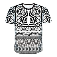 Men T-Shirt Funny Eyes Graphics Paris Lattice Geometric Space Printing 3D T Shirt Couple