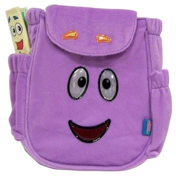 Nickelodeon Dora the Explorer Plush Backpack Rescue Bag Purple