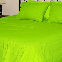 1000TC Egyptian Cotton Parrot Green Duvet Quilt Cover Set 3pc - Available in All Size