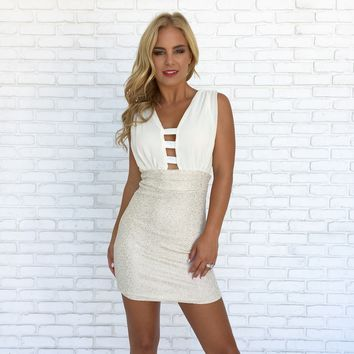 Radiance Bodycon Dress in Ivory
