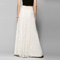 Summer Women's  Waist Hollow Lace Skirt In The Long Section Of Big