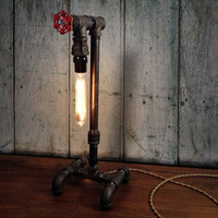 Edison Table Lamp - Industrial Lighting - Steampunk Decor - Man Cave - Dorm Room Decor