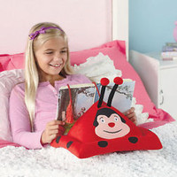 Children's Book Or E-Reader Pillow Ladybug Design Bed Reading iPad Tablet Kindle
