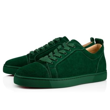Cl Christian Louboutin Louis Junior Men's Flat Jungle Suede 13s Shoes 3170052e090 - Best Online Sale