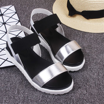 Womens Platform Sandals 2017 Summer Fish Head Mixed Colors Muffin Gladiator Shoe Zapatos Mujer Sandalias Mujer Plataforma Alta
