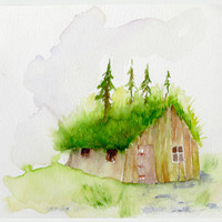 Surrender to the Forest - Green Rooftop Trees Cabin - Ucuspucus