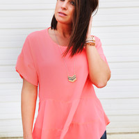 Moonlight Ride Blouse {Coral}