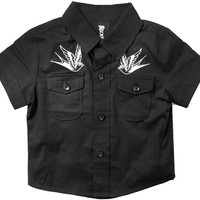 Button Up - SOURPUSS misfits, Misfits Black Button Up for Baby and Toddler Boys