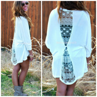 In a Pinch Off White Lace Back Cardigan