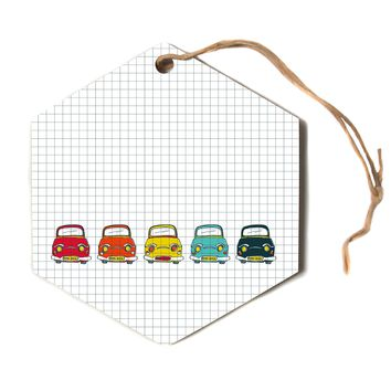 "MaJoBV ""Boys Rock"" Multicolor Cars Hexagon Holiday Ornament"