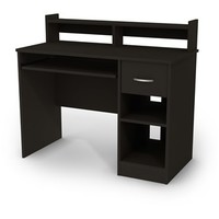 South Shore Axess Desk in Pure Black | The Simple Stores