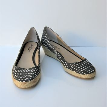 Lucky Brand Tily Wedge Flat Espadrille 7 NWOB
