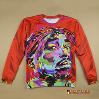 3D Tupac/Emoji/Sailor moon/Donut/Christmas Print Hoodies