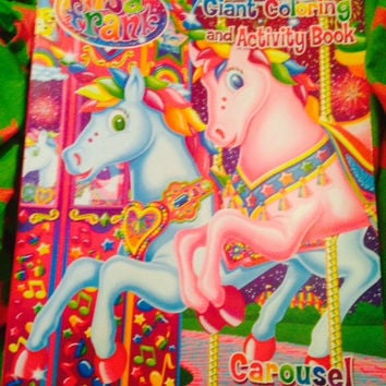 """Lisa Frank giant coloring and activity book """"Carousel Fun"""""""