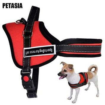 PETASIA Best Quality Pet Dog harness Pet dog Chain leash Collar Supplier Product 5 Size Nylon for pet dog Small Large Dog Red