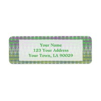 Colorful Pink Green Yellow Pattern Return Address Label