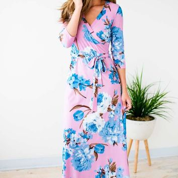 This Feeling Floral Maxi Dress in Lavender