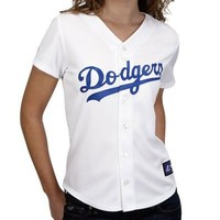 Majestic L.A. Dodgers Ladies White Replica Baseball Jersey