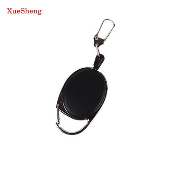 2 PCS Retractable Pull Badge Reels Zinc Alloy Plastic ID Lanyard Name Tag Card Badge Holder Reels Recoil Ring Clips