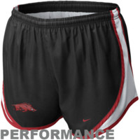 Nike Arkansas Razorbacks Ladies Tempo Performance Shorts - Black