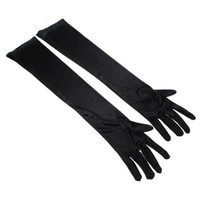 niceEshop(TM) Dress up Cosplay Photo Props Long Satin Opera Gloves-Black