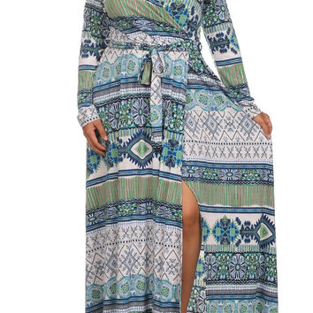 Plus Size Arwin Boho Print Maxi Dress