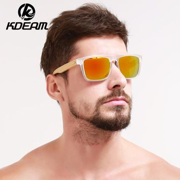 New Bamboo Sunglasses Transparent Frame Men Sun Glasses Mirror UV400 protection Women Goggle With case