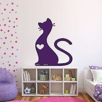 Wall Sticker Vinyl Decal Cute Soft Fluffy Cat Ears Tail Claws Unique Gift (n215)