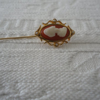 Avon Cameo Stick Hat Pin