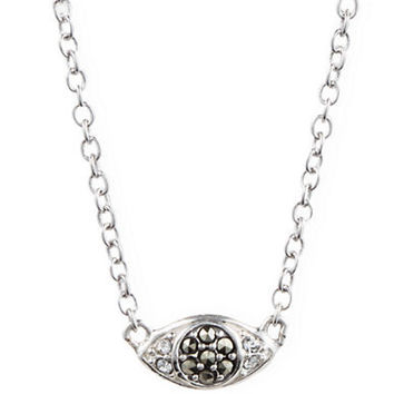 Judith Jack Sterling Silver and Crystal Pendant Necklace