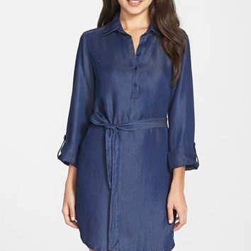 Women's Fraiche by J Chambray Shirtdress,
