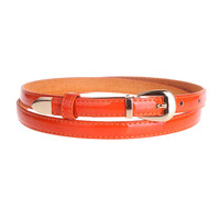 Buckle Leather Patent Belt