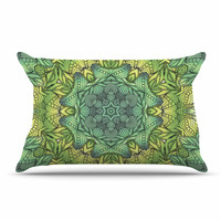 "Art Love Passion ""Fairy Mandala"" Green Yellow Pillow Sham"