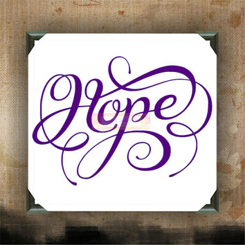"Hope Flourish | decorated canvas | wall hanging | wall decor | inspirational quote on canvas | 12"" x 12"""